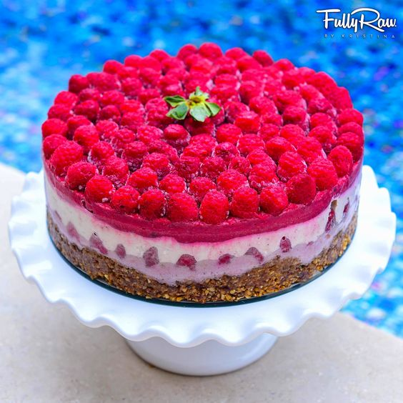 #FullyRaw #Raspberry #Shortcake! Raw, #vegan, dairy-free, gluten-free, healthy, pie! Recipe here: https://www.youtube.com/watch?v=UA6O9O9amdQ