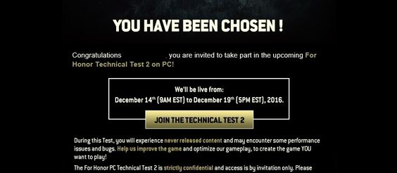 For Honor's Second Round of Testing to Start Dec 14th - The Outerhaven