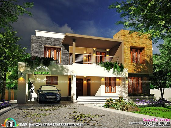 Contemporary House Plan By 3d Edge Kerala House Design Contemporary House Plans House Plans