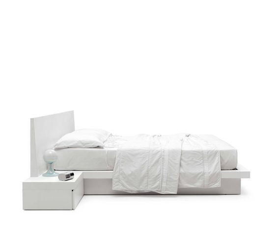 Novamobili Bett Fly Maxi mit Bettkasten Ein Betten Traum in weiß
