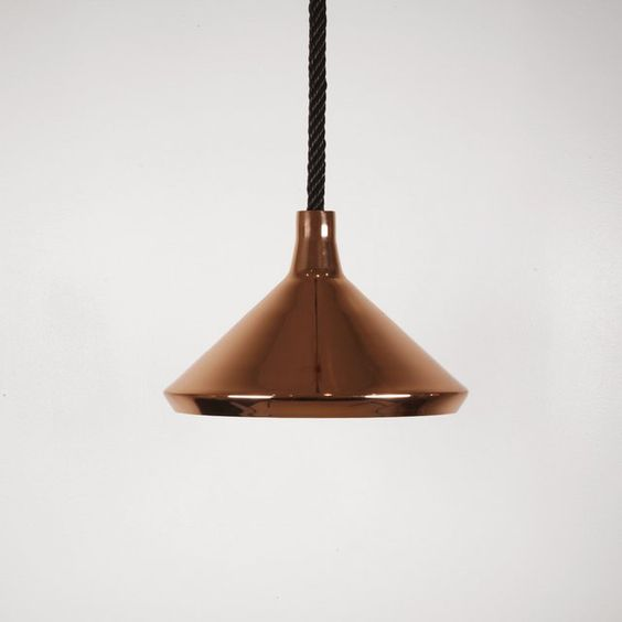 From Bec Brittainu0027s A_Shades series of pendant lights for Mattermade.  Copper-plated spun metal