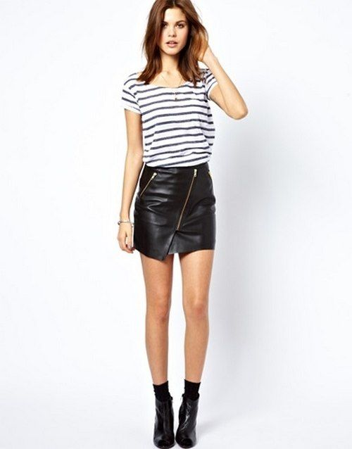 leather skirt - Google Search