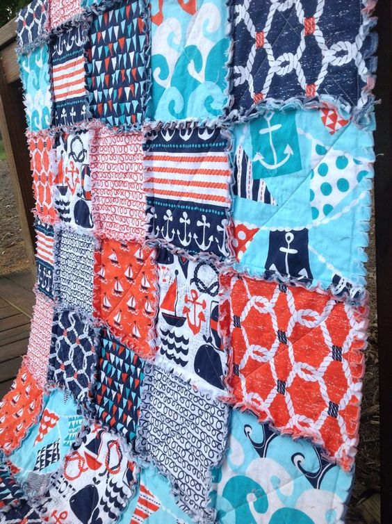 Boys ahoy matey and fabrics on pinterest for Quilt material for boys
