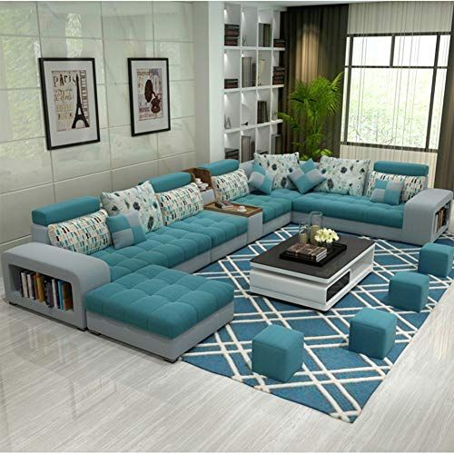 Xiaosunsun Simple And Modern U Shaped Fabric Sofa Combination Removable And Washable 1 Modern Sofa Designs Living Room Sofa Design Sofa Design
