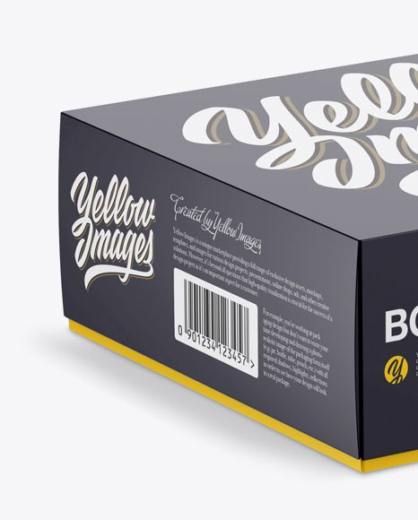 Download Paper Box Mockup Half Side View High Angle Shot In Box Mockups On Yellow Images Object Mockups Box Mockup High Angle Shot Paper Box
