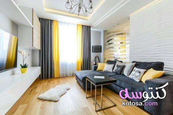 الاصفر و الرمادى فى الديكور اثاث اصفر ورمادي اللون الأصفر والرمادي كطراز للديكور الأصفر والرمادي Yellow Living Room Living Room Grey Small Living Room Design