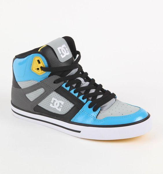 (Limited Supply) Click Image Above: Mens Dc Shoes Shoes - Dc Shoes Spartan Hi Blue Wc Shoes
