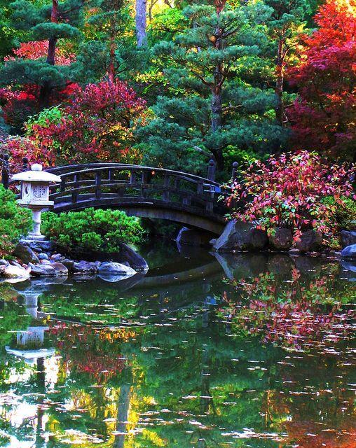 Японска градина Elements - Градина на Андерсън, Rockford, IL - фенери: