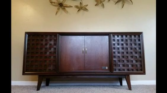 Repurposed Zenith Record Stereo Console // all new high end components // upgraded turntable // new electronic // bluetooth