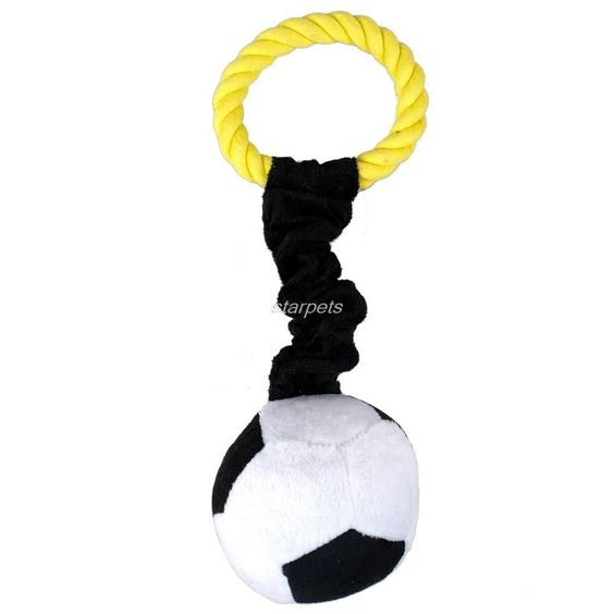 Hot Sport Pet Plush Cotton Braided Rope Ball Dog Playing Squeaker Toy