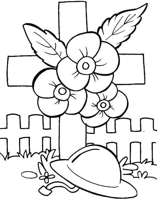 Poppy Day Coloring Pages With Images Remembrance Day Poppy
