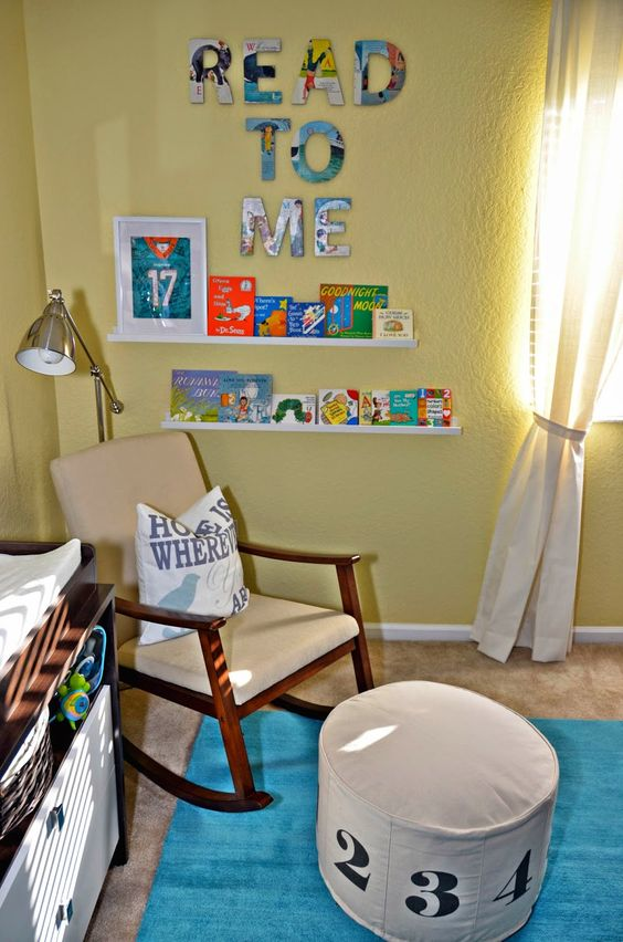 Baby's first reading nook