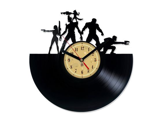 AMAZING!!!! I love this!!  Vinyl Clock  Guardians of the Galaxy. by TheVinylEatersShop
