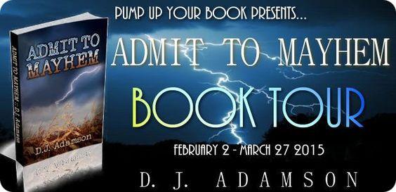 #mystery Blog Tour: ADMIT TO MAYHEM: Lillian Dove Mystery by D.J. Adamson - http://www.fictionzeal.com/blog-tour-admit-mayhem-lillian-dove-mystery-d-j-adamson/