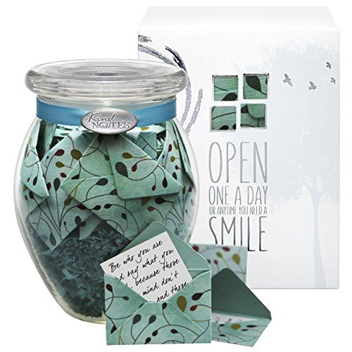 KindNotes INSPIRATIONAL Keepsake Gift Jar of Messages for Him or Her Birthday Thank you Anniversary Just Because  Uplifting Days Review