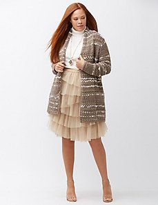 Mixed stitch overpiece sweater