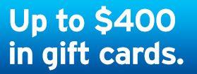 Citibank Checking $400 in gift cards bank bonus