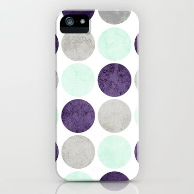 Circles (Mint, Purple, Gray) iPhone Case