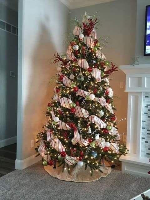 Themed Christmas Tree Ideas In 2020 Ribbon On Christmas Tree Christmas Tree Inspiration Cool Christmas Trees