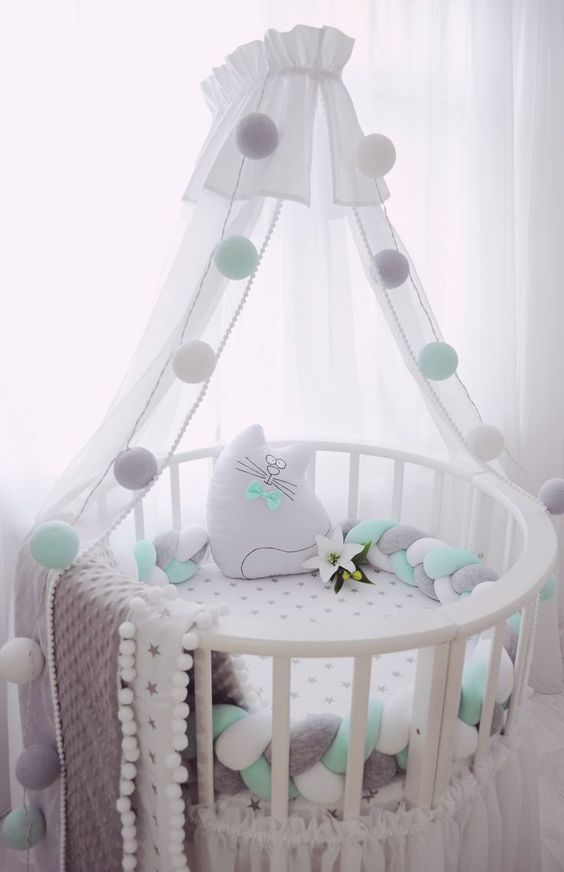 Newborn Baby Hammock For Crib Wombs Bassinet Hammocks Bed With Breathable Net Nursing Baby Bed Bed Pillow Crown S Nursery Baby Room Baby Cribs Baby Hammock