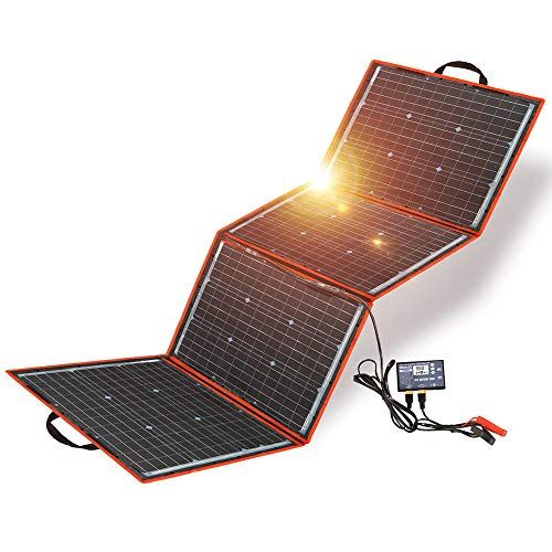 Dokio 150w Solar Panel Kit Portable Folding Monocrystalline Include Solar Charge Controller And Pv Cable In 2020 Solar Panel Kits Solar Panels Solar Panel Installation