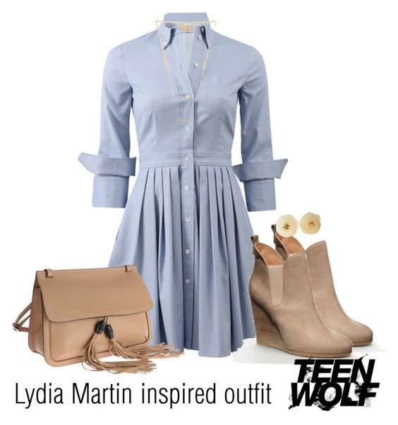 """Lydia Martin inspired outfit/TW"" by tvdsarahmichele ❤ liked on Polyvore featuring Michael Kors, Gucci, Chanel and Gorjana"
