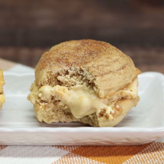 ... of pumpkin spice ice cream between two chewy snickerdoodle cookies