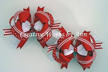 Free How to Cover Alligator Clips Instructions: hairbow free directions, hair bow business work at home