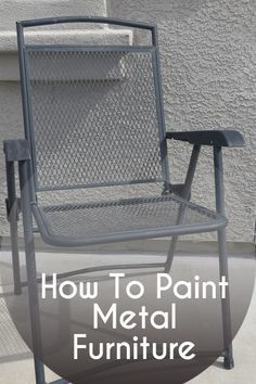 The best way to paint metal outdoor furniture warm the o 39 jays and smooth - Paint for exterior metal pict ...