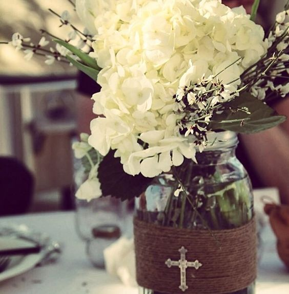 Baby Baptism Centerpieces