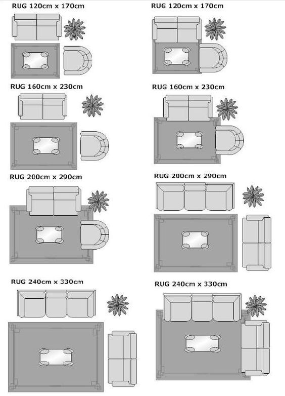 How to place a rug under a bed google search house for Living room rug size guide