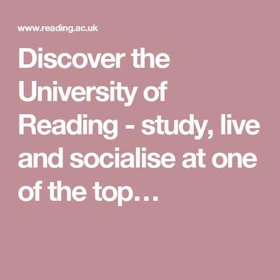 Discover the University of Reading - study, live and socialise at one of the top…