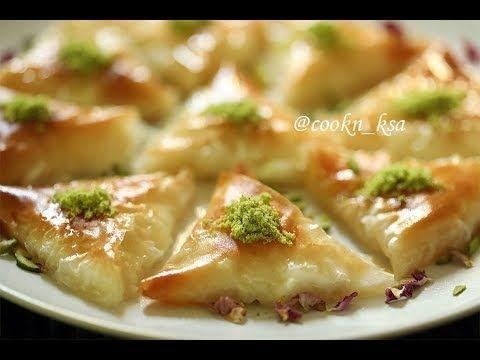 بقلاوة بالقشطة طريقة عمل البقلاوة حلويات رمضان Cooking Food Arabic Food