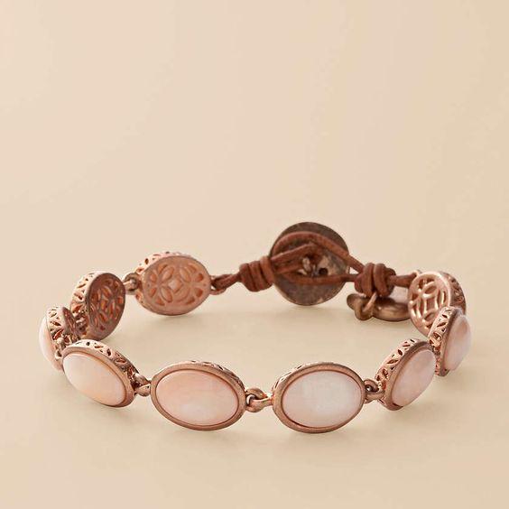 Mother of Pearl Stone Bracelet from Fossil so freaken cute!