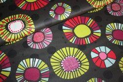 Beschichtete Baumwolle freaky circles