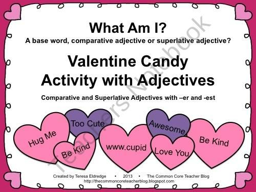 valentines day sorting comparative and superlative adjectives product visit my store at. Black Bedroom Furniture Sets. Home Design Ideas