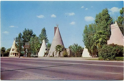 Wigwam Lodge & Trailer Court, Tempe AZ near present-day ASU. Built 1947, torn down in the 1970's. ☼ 8168437924_a4a244dab3.jpg (500×327)