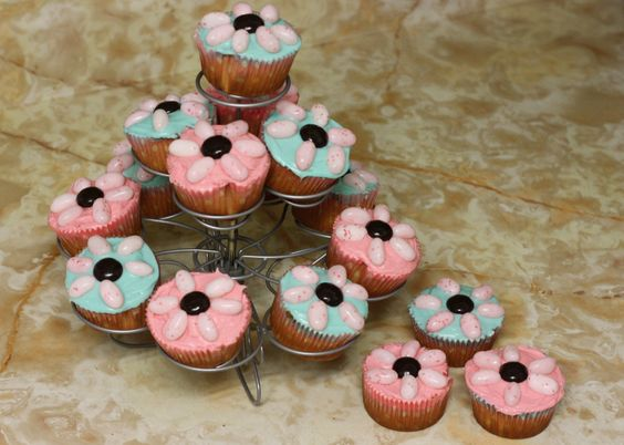 Simple cupcakes I made for my daughters birthday party.
