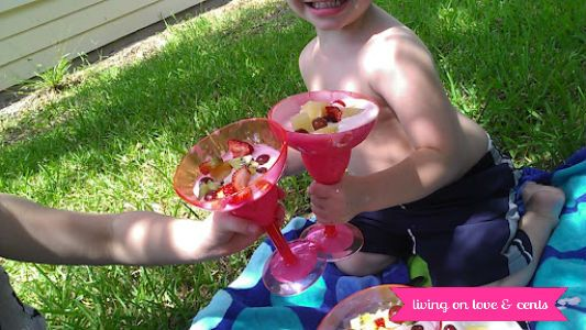 Tropical Splash Summer Celebration With TCBY Yogurt & Fruit Salad #TCBYGrocery #CBias - Living on Love and Cents