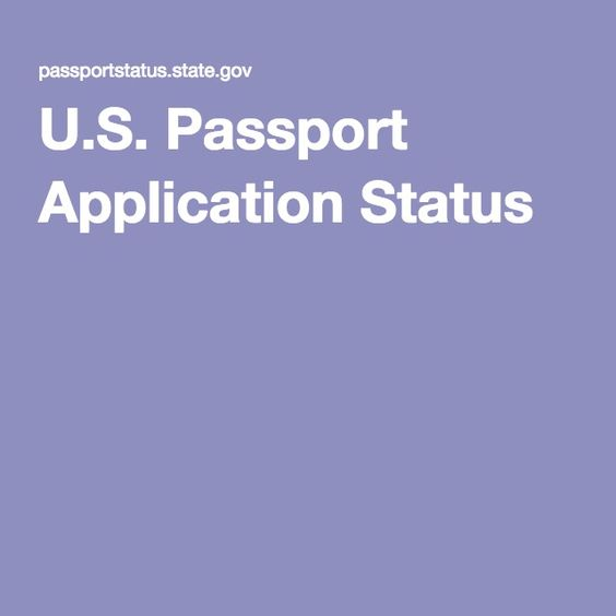 U.S. Passport Application Status