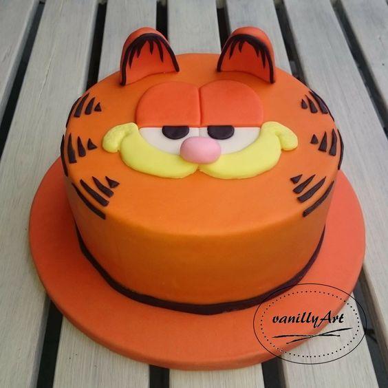 Swell Tertiary Fondant Cakes Birthday Garfield Cake Birthday Cake Kids Personalised Birthday Cards Veneteletsinfo
