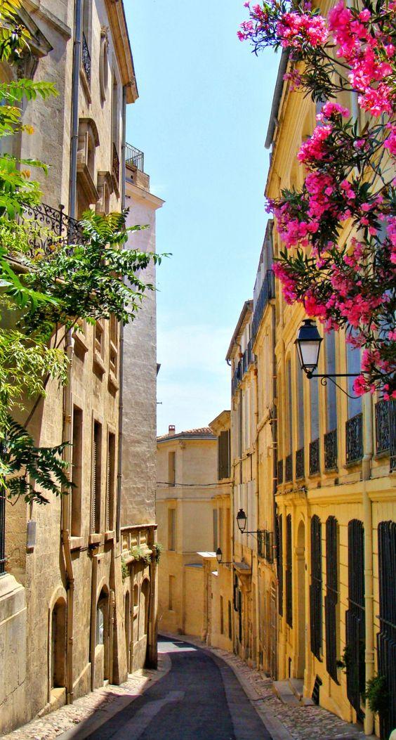 Les ruelles de la veille ville de Montpellier