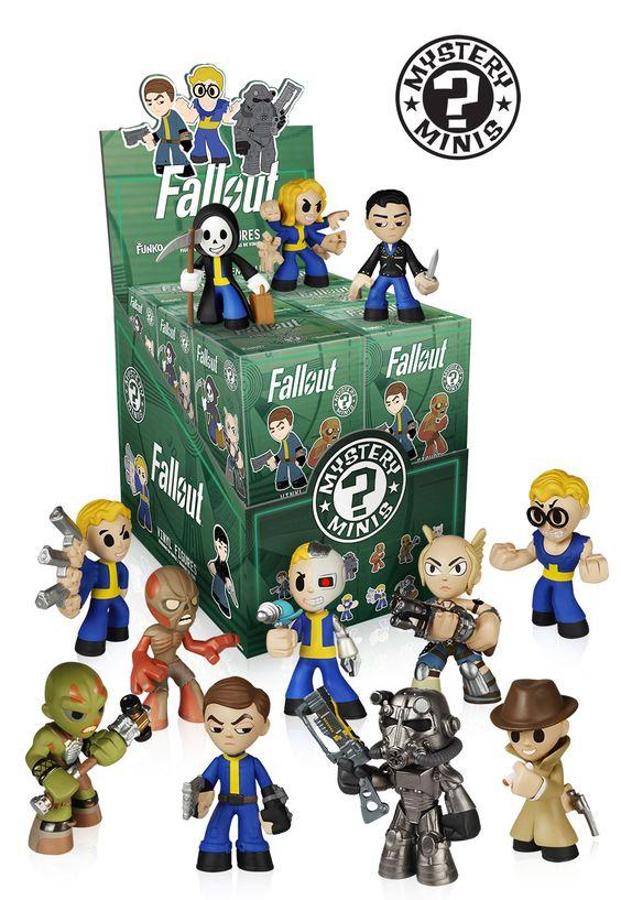 Os Mystery Minis da Funko ganharão uma nova coleção: Fallout. Os Mystery Minis são caixas fechadas com pequenos action figures aleatórios.