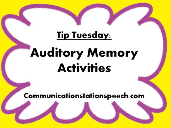 Worksheet Auditory Memory Worksheets oltre 1000 idee su di elaborazione uditiva pinterest tip tuesday auditory memory activities