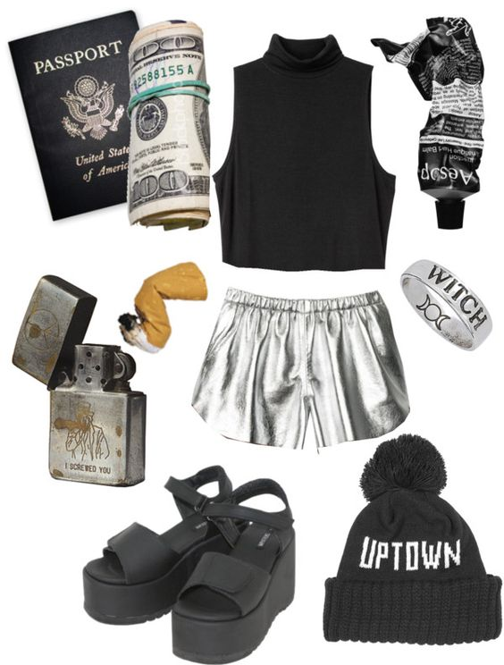 """leave!!!!!!"" by baileycrossan ❤ liked on Polyvore"