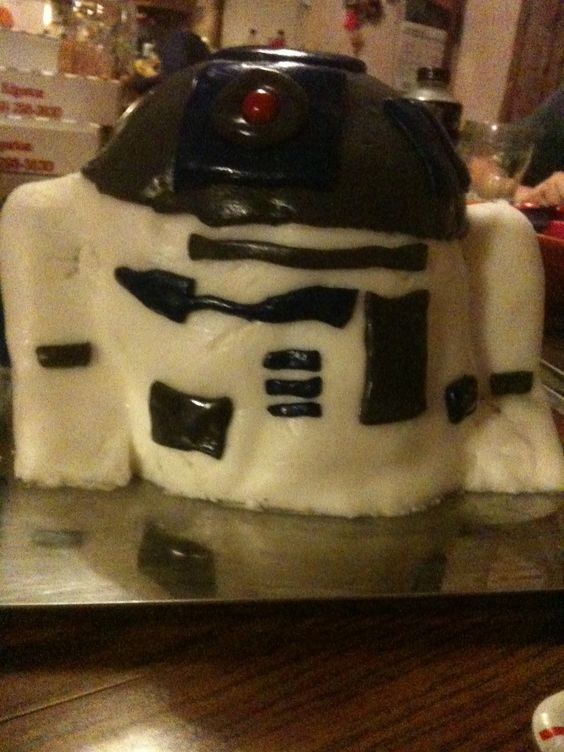R2-D2 cake a couple of my friends made for me on my birthday one year.