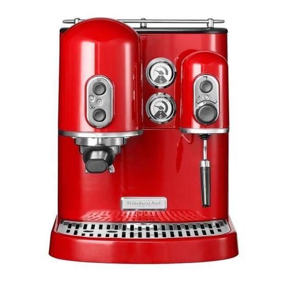 Machine à expresso Rouge - Kitchenaid 5KES2102EER pas cher - PetitBuzz ❤