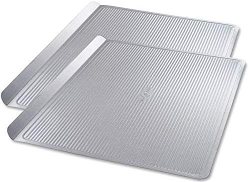 Amazon Com Usa Pan Bakeware Cookie Sheet Warp Resistant Nonstick Baking Pan Made In The Usa From Aluminized Steel La In 2020 Nonstick Baking Pans Baking Pans Sheet