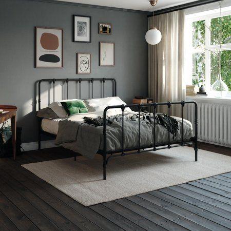 Mainstays Farmhouse Metal Bed Multiple Options Available Walmart Com Metal Platform Bed King Metal Bed Metal Beds