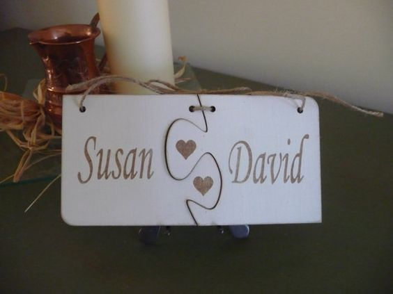 Personalised Name Sign Puzzle Connect Sign Wooden Name by Crafu